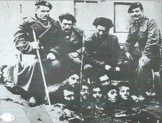 Anti-communist militamen display their victims in the Greek Civil War. Greek History, World History, Hellenic Army, Semitic Languages, Ugly Faces, Important Facts, Yesterday And Today, World War I, Macedonia