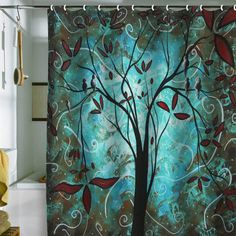 DENY Designs Home Accessories | Madart Inc. Romantic Evening Shower Curtain  Sale Item On Wanelo