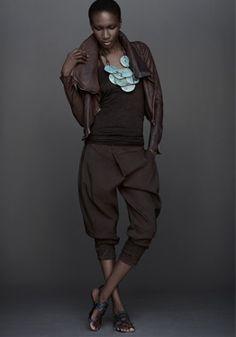 Leather moto jacket with zipper (OD Clove - $2495) New cami top (OD Clove - $325) New jodhpur (OD Clove - $695)
