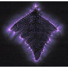 kirlian photograph of leaf