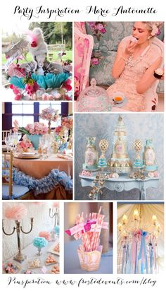 Marie Antoinette Theme Party Ideas and Inspiration   Party style ideas via Frosted Events