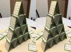 The Card Tower - 3D Stereoscopic Photography.