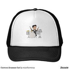 Cartoon drummer hat