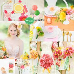 Lilly Pulitzer Wedding Inspiration Board by White Washed Comfort