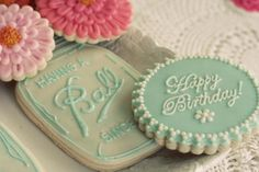 This vintage 'Having a Ball' Mason Jar 90th Birthday Party is amazing! It's featured on Kara's Party Ideas - www.KarasPartyIdeas.com. Just look at those cookies!