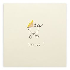Pencil Shavings Card – Twins Pram