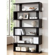 Baxton Studio Barnes 6-Shelf Modern Bookcase, Dark Brown Baxton Studio,http://www.amazon.com/dp/B00CUMSRHO/ref=cm_sw_r_pi_dp_Oe6Ssb1DDNDQ9RQ3