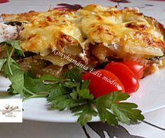 Tökös-túrós rétes Recept képpel - Mindmegette.hu - Receptek Lasagna, Pork, Lunch, Meat, Chicken, Breakfast, Ethnic Recipes, Red Peppers, Kale Stir Fry