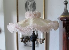 Darling Vintage Lace Lampshade~Light pink and cream...oh so shabby and Yummy! by TheVintageOpenGate on Etsy