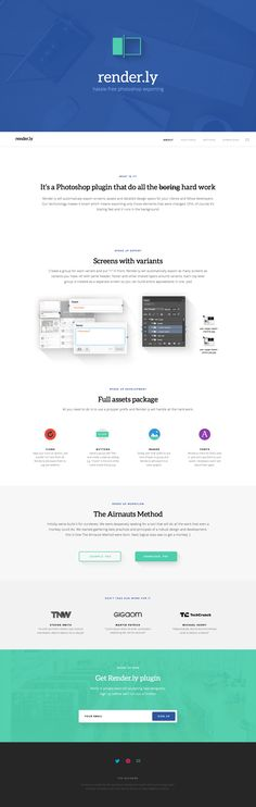 Unique Web Design, Render.ly #webdesign #design (http://www.pinterest.com/aldenchong/)