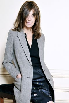 """Carine Roitfeld's Initial Foray:  """"CR,"""" the handwritten initials that appeared under all her editor's letters during her 10 years at the helm of French Vogue, will be scrawled across the matte cover of her new biannual, with the first issue slated for September."""