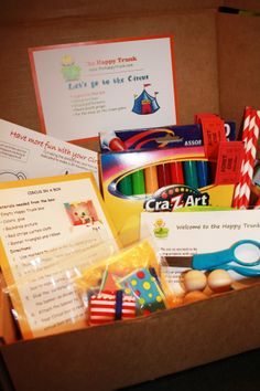 The Happy Trunk Review September 2013 Kids Activity Kit Box Subscription