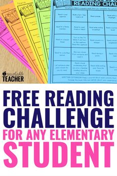 Download this free at home reading challenge to keep kids of all backgrounds engaged in reading when school isn't in session. Reading Comprehension Passages, Comprehension Activities, Phonics Activities, Reading Strategies, Third Grade Reading, Student Reading, Kids Reading, Free Reading, Phonics Reading
