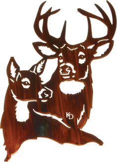 Deer Summer Romance Laser Cut Metal Wall Art