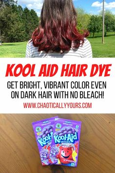 Kool Aid Hair Dye:  How To Get Bright Colors For Just Pennies!