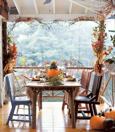 Country house table setting.
