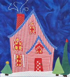 "close up, ""Welcome to the North Pole"" quilt by Becky Goldsmith's mom. Piece o' Cake design, posted by Becky Goldsmith"