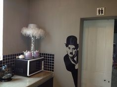 financial chart on an office wall vinyl wall art With kitchen cabinets lowes with charlie chaplin wall art