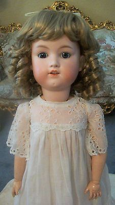 Antique Bisque Doll by George Borgfeldt Head marked Germany GB 24""