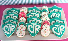 "It's Great to be 8! And CTR cookies. CTR stands for ""choose the right."" These are to celebrate an LDS baptism."