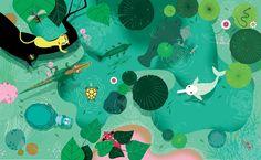 FEATURED ARTIST: Lucie Brunellière. Fabulous. colorful jungle book #illustration #art