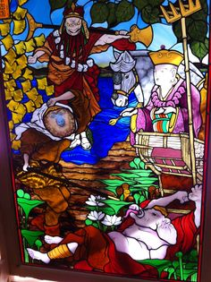"Another Japanese stained glass I designed  ""Journey to the West"""