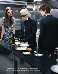 "Carl Lagerfeld and ""The Shallot"""