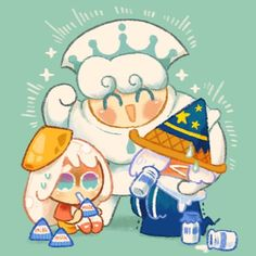 Cookie Run, Cookie Time, Cotton Candy Cookies, Cartoon Cookie, Cute Characters, Cute Art, Smurfs, Chibi, Anime Art