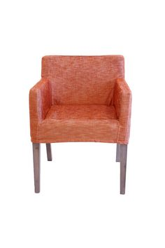 orange dining chairs with arms