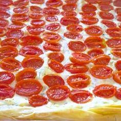 Feta, Tomato & Greek Yogurt Tart | RecipeNewZ