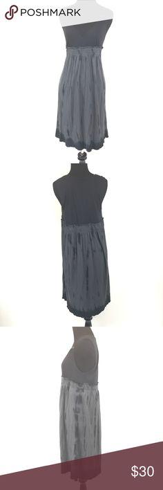 CALVIN KLEIN BLACK AND GRAY TYE DYE DRESS SIZE M Very good condition Calvin Klein jeans black and gray TYE dye dress size medium Calvin Klein Jeans Dresses Midi