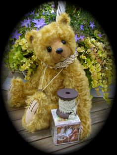 This is Honey, a teddy made by Elisabears