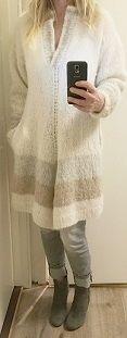 Poncho with arms - Vams - ponchogenser - ponchosweater - poncho - Pockets. Lommer. Drops Melody. Design: Annelise Bjerkely Oppskrift til salgs: Facebook: strikkesida til annelise