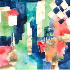Bird of Paradise No2-Blue Abstract Original Art