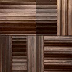 Wood Slat Wall, Diy Wood Wall, Wood Panel Walls, Wood Slats, Wood Paneling, Wall Panelling, Wallpaper Designs For Walls, Wall Finishes, Acoustic Panels