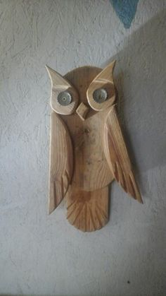 SUPERB HAND CRAFTED 3D WOOD MODEL OWL FAMILY PUZZLE