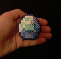 Diamond by Werbenjagermanjensen Easy Perler Bead Patterns, Perler Bead Templates, Diy Perler Beads, Perler Bead Art, Minecraft Perler, Hama Beads Minecraft, Minecraft Crafts, Hamma Beads 3d, Pearler Beads