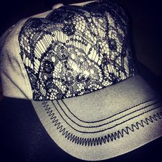 never thought of drawing on a hat, but this may be my next new project...(:
