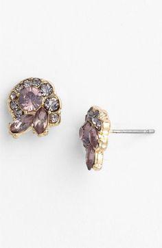 Carole 'Nautilus' Rhinestone Stud Earrings available at #Nordstrom