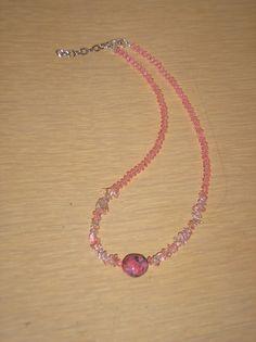 Tickled Pink/Genuine magnesite nugget by CreationsbyMaryEllen, $9.59