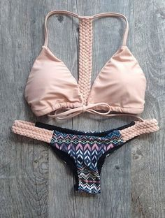 Item Type: Bikinis Set Pattern Type: Print Waist: Low Waist Material: Polyester Material: Spandex Material: Acrylic Support Type: Wire Free With Pad: Yes is_customized: Yes Color Style: Natural Color