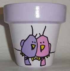Ideas y soluciones: Macetas Pintadas a Mano Flower Pot Art, Flower Pot Crafts, Clay Pot Crafts, Flower Pot People, Clay Pot People, Painted Plant Pots, Painted Flower Pots, Pot Jardin, Posca
