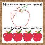 Patchwork-moldes-maçã-para-patch-aplique