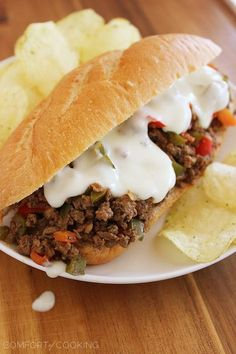 The Comfort of Cooking » Philly Cheesesteak Sloppy Joes