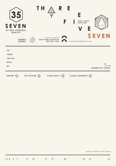 Three Five Seven | STATIONERY OVERDOSE
