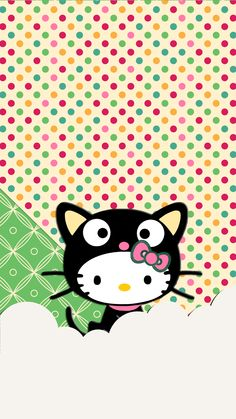 Hello Kitty as Choco Cat wallpaper Bonjour Kitty comme fond d'écran Choco Cat