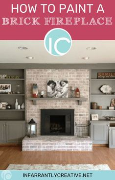 Good Photos update Brick Fireplace Popular Often it gives to be able to miss the particular upgrade! Instead of pulling out an outdated brick fireplace , save mone Update Brick Fireplace, White Wash Brick Fireplace, Painted Brick Fireplaces, Old Fireplace, Fireplace Surrounds, Fireplace Makeovers, How To Paint Fireplace, Fireplace Whitewash, Fireplace Ideas