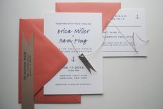salty wedding invitations and rsvp cards SAMPLE by jackandellapaper