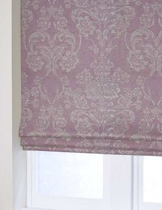 LUXE METALLIC DAMASK Cheap Blinds, Cellular Blinds, House Blinds, Bamboo Blinds, Curtains With Blinds, Damask, Mauve, Metallic, Lavender