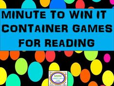 "Get the gang together and play these fun timed reading relay games! Easy, Moderate,and Challenge levels for all ages. The phoneme focus is found in the game title. ""In the Bib"" is about words containing ""in"". ""Spill and Fill"" has words containing ""ill""and ""Feed with Speed"" has words with ""eed""."